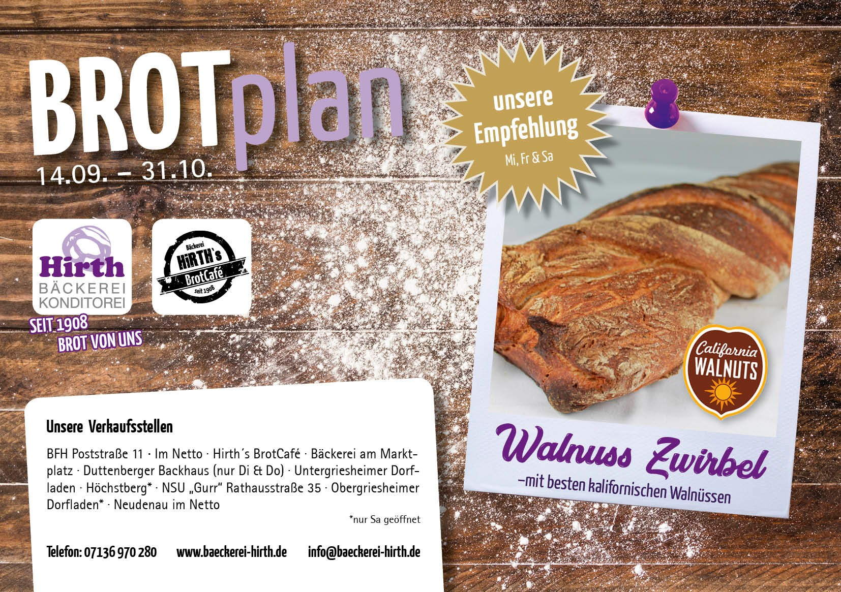 Brotplan Bäckerei Hirth